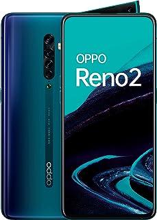 "OPPO Reno 2 - Smartphone de 6.55"" AMOLED, 4G Dual Sim, 8GB, 256GB, Qualcomm Snapdragon 730G, cámara trasera 48 MP + 8 MP (gran angular) + 13 MP + 2 MP, 4.000 mAh, Android 9, Azul (Ocean Blue)"