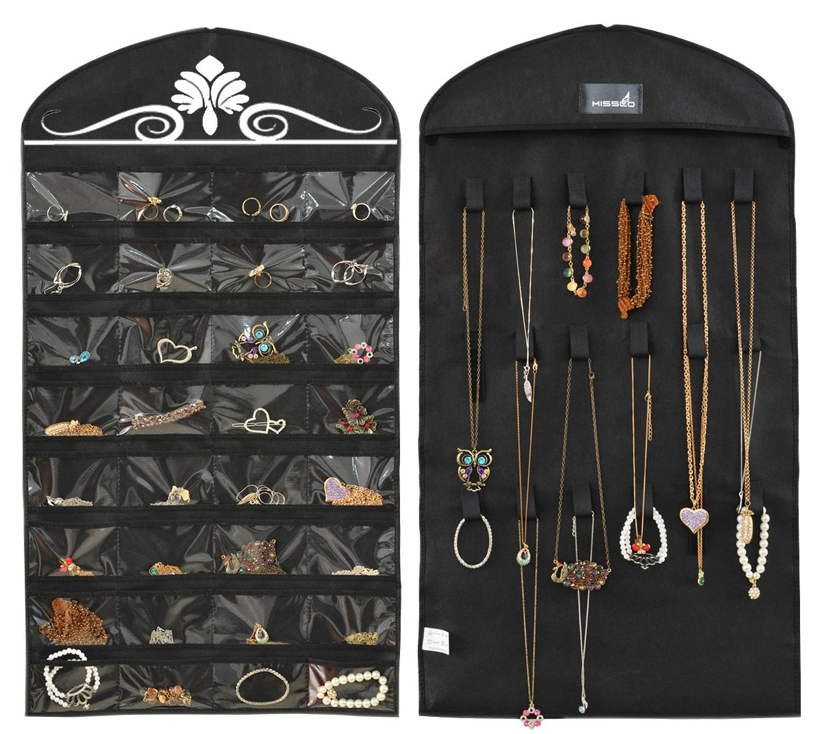Jewelry Hanging Non Woven Organizer Pockets