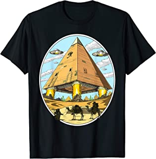 Alien Egyptian Pyramids Ancient Space UFO Conspiracy T-Shirt