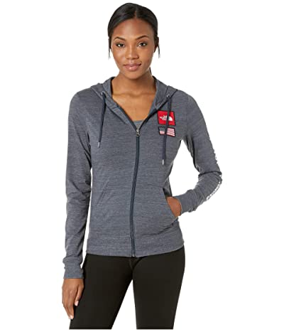The North Face Americana Tri-Blend Full-Zip Hoodie (Urban Navy Heather) Women