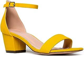 788f3c02052 J. Adams Ankle Strap Kitten Heel - Adorable Low Block Heel - Daisy