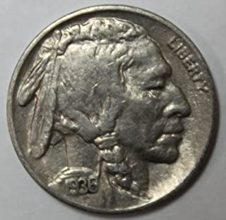 1936 S Buffalo Nickel 5c Extremely Fine-About Uncirculated
