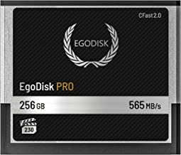 EgoDisk PRO 256GB CFast 2.0 Card - (BLACKMAGIC DESIGN URSA MINI 4K • 4.6K   CANON • XC10 • XC15 • 1DX MARK II • C200   HASSELBLAD H6D-50C • H6D-100C   ATOMOS   PHANTOM VEO S) - 3 Year Warranty