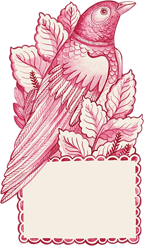 Hester Cook Lovebird Table Accent Place Cards Set Of 12
