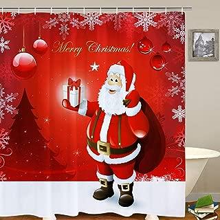 Best black santa shower curtain Reviews