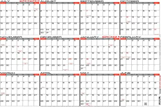 "JJH Planners - Laminated - 24"" x 36"" Large Academic 2020-2021 Wall Calendar - Horizontal 12 Month Yearly Annual Planner (20-21h-24x36)"