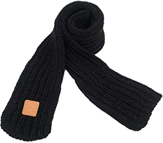 Kids Knitted Scarf Winter Fashion Solid Color Toddler Baby Scarves Wrap Neck Warmer