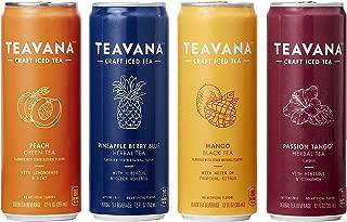 Teavana Craft Iced Tea Variety Pack, Pineapple Berry Blue Herbal Tea, Peach Green Tea, Mango Black Tea & Passion Tango Herbal Tea, 12 fl. oz. Cans (Pack of 12)