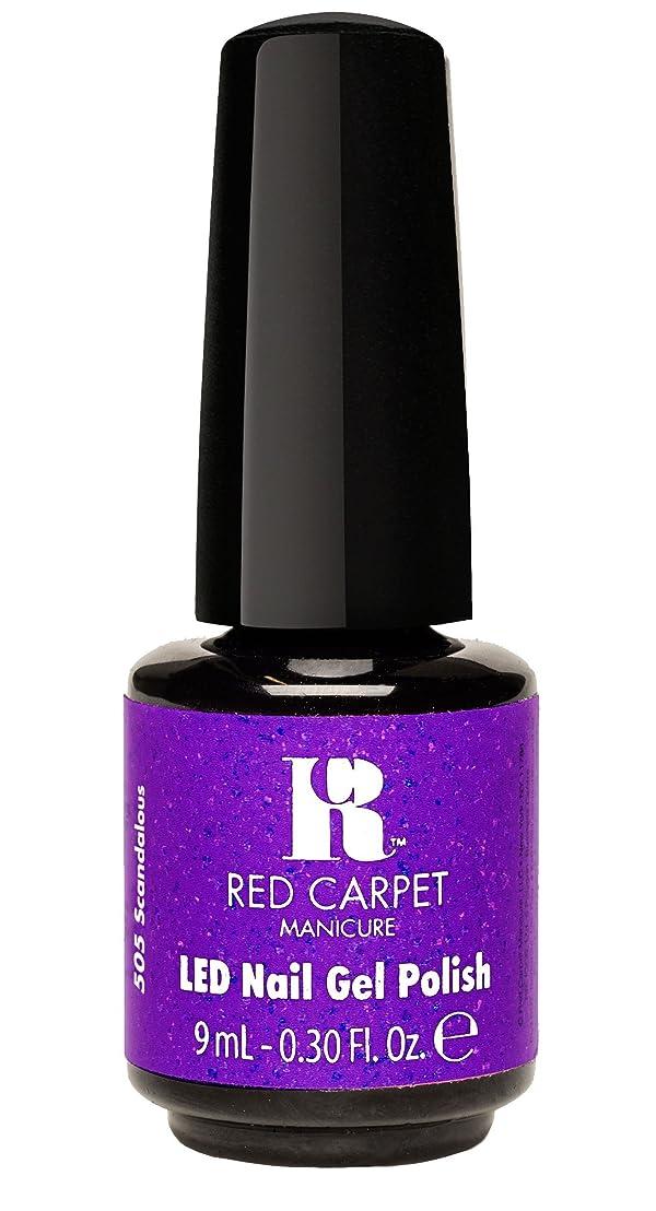 聴覚障害者請求書収束Red Carpet Manicure - LED Nail Gel Polish - Designer Series - Scandalous - 0.3oz/9ml