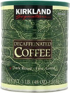 Kirkland Signature Dark Rost Fine Grind Decaf Arabica Coffee,  48 Ounce