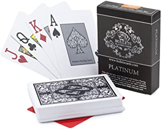 Sponsored Ad – Bullets Playing Cards Premium Professional Plastic Poker Cards Platinum with Two Corner Characters - Deluxe...