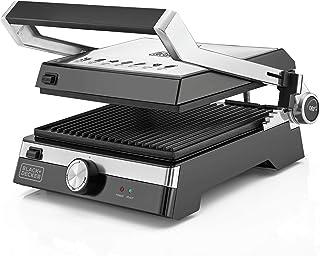 Black+Decker 2000W Family Health Grill, Black/Silver, CG2000-B5, 2 Year Warranty
