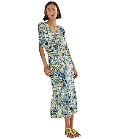 LAUREN Ralph Lauren Paisley Linen-Blend Jersey Dress