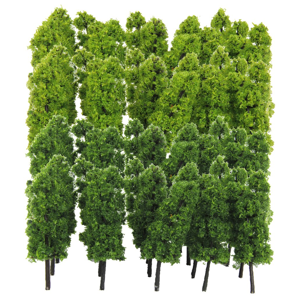 MagiDeal 40 Pieces of 1:150 N Scale Model Trees for Layout Train Railroad Garden Park Street Diorama Landscape Scenery