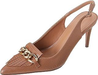 حذاء بكعب عالي ورفيع للنساء من ديجافو، لون كاميل، مقاس 40