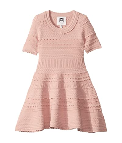 Milly Minis Textured Tech Dress (Toddler/Little Kids) (Dahlia) Girl