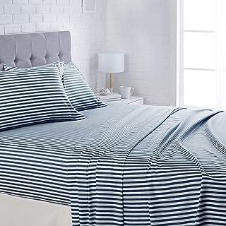 "AmazonBasics Lightweight Super Soft Easy Care Microfiber Bed Sheet Set with 16"" Deep.."