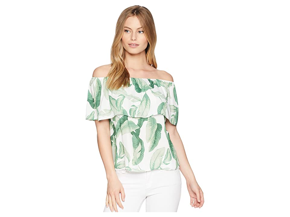 Show Me Your Mumu Brit Brit Top (Palmtini) Women's Clothing, Green