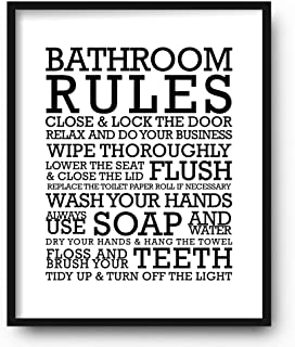 Best toilet rules poster Reviews