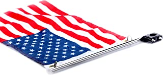 Amarine Made Stainless Steel Rail Mount Boat Pulpit Staff (7/8 - 1 1/4), Boat Yacht Marine Flag Pole with US Flag