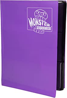 Monster Binder - 9 Pocket Trading Card Album - Matte Purple - Holds 360 Yugioh, Magic, and Pokemon Cards