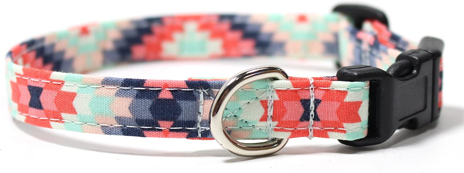 Ruff Roxy Aztec Summer Pink and Challenge the lowest price of Japan Collar Industry No. 1 Designer Dog Mint Cotton