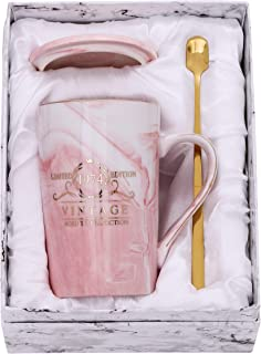Fantaspara 1974 45th Birthday Gifts for Women and Men Ceramic Mug - Funny Vintage 1974 Aged To Perfection - Anniversary Gift Idea for Him, Her, Mom, Dad Husband or Wife 14oz birthday mug Pink