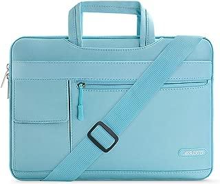 MOSISO Laptop Shoulder Bag Compatible 13-13.3 Inch MacBook Pro, MacBook Air, Notebook Computer, Protective Polyester Flapover Messenger Briefcase Carrying Handbag Sleeve Case Cover, Hot Blue