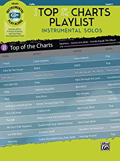 Easy Top of the Charts Playlist Instrumental Solos for Strings: Cello, Book & CD (Instrumental Solos Series)