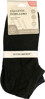 Intim Secret, Calcetines Para Dama Tipo Tobillero 6-Pack, Talla Única, Calcetines Cortos Para Mujer Para Hacer Deporte, Llevar Con Zapatillas o Casual, Máxima Comodidad.