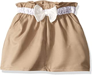 Girls' Scooter with Bow Detail and Elastic Waist