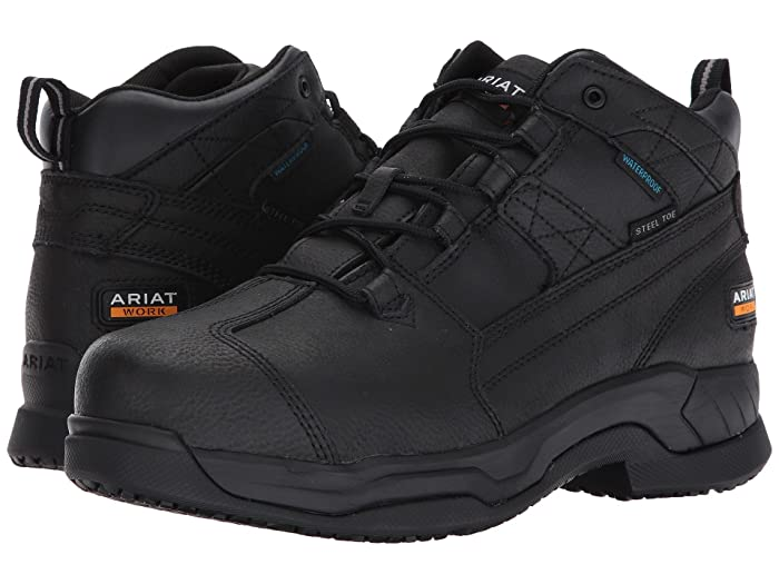 Ariat  Contender Waterproof Steel Toe (Matte Black) Mens Lace-up Boots
