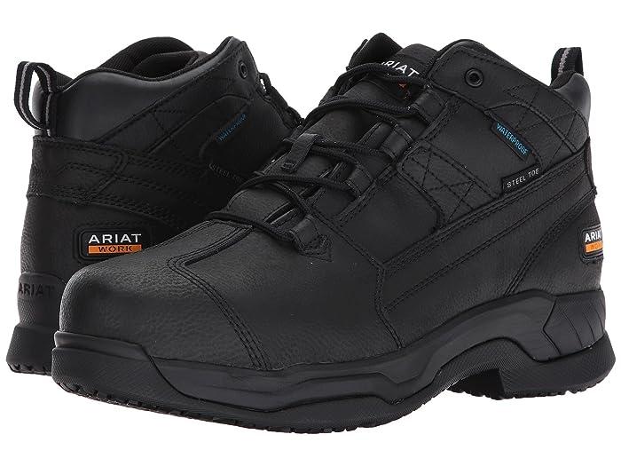 Ariat  Contender Waterproof Steel Toe (Matte Black) Mens Lace-up Boots