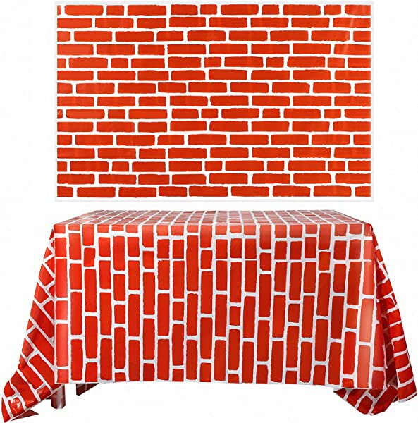 Chuangdi 2 Sheets 4 5 X 9 Feet Brick Decal Photo Brick Wall Backdrop Brick Sticker Wallpaper For Winter Christmas Party Red Brick
