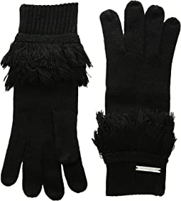 Rib Fringe Gloves