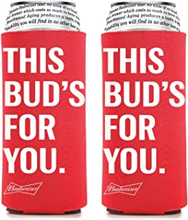 Budweiser 25 Ounce Man Can Cooler - Set of 2