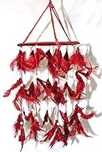 odishabazaar Fabric Jhoomer Design Dream Catcher Wall Hanging (Red)