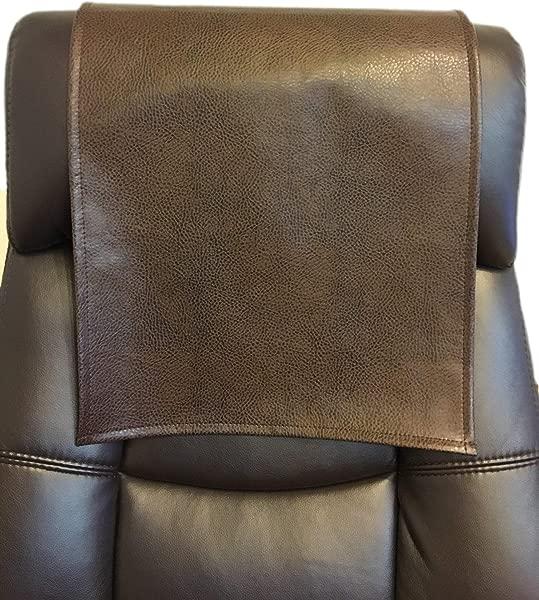 Luvfabrics LUVFARICS 14 乘 30 英寸棕色福特卵石人造皮革乙烯基沙发双人躺椅剧院座椅房车罩椅子帽头枕垫躺椅头套家具保护套