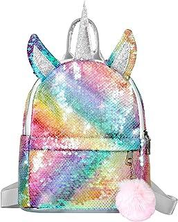 Mochila de Unicornio, Mochila Escolar para niña, Mochila de Lentejuelas, Mochila de Viaje,Mochila de Moda Cute Glitter Girl
