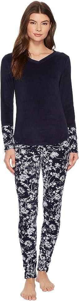 Lucky Brand - Printed Microfleece Pajama Set