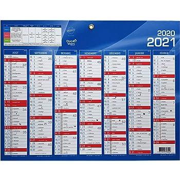 Quo Vadis   1 Calendrier de banque bleu   Août 2020 à Sept 2021