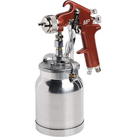 Astro Pneumatic Tool 4008 Spray Gun with Cup - Red Handle 1.8mm Nozzle