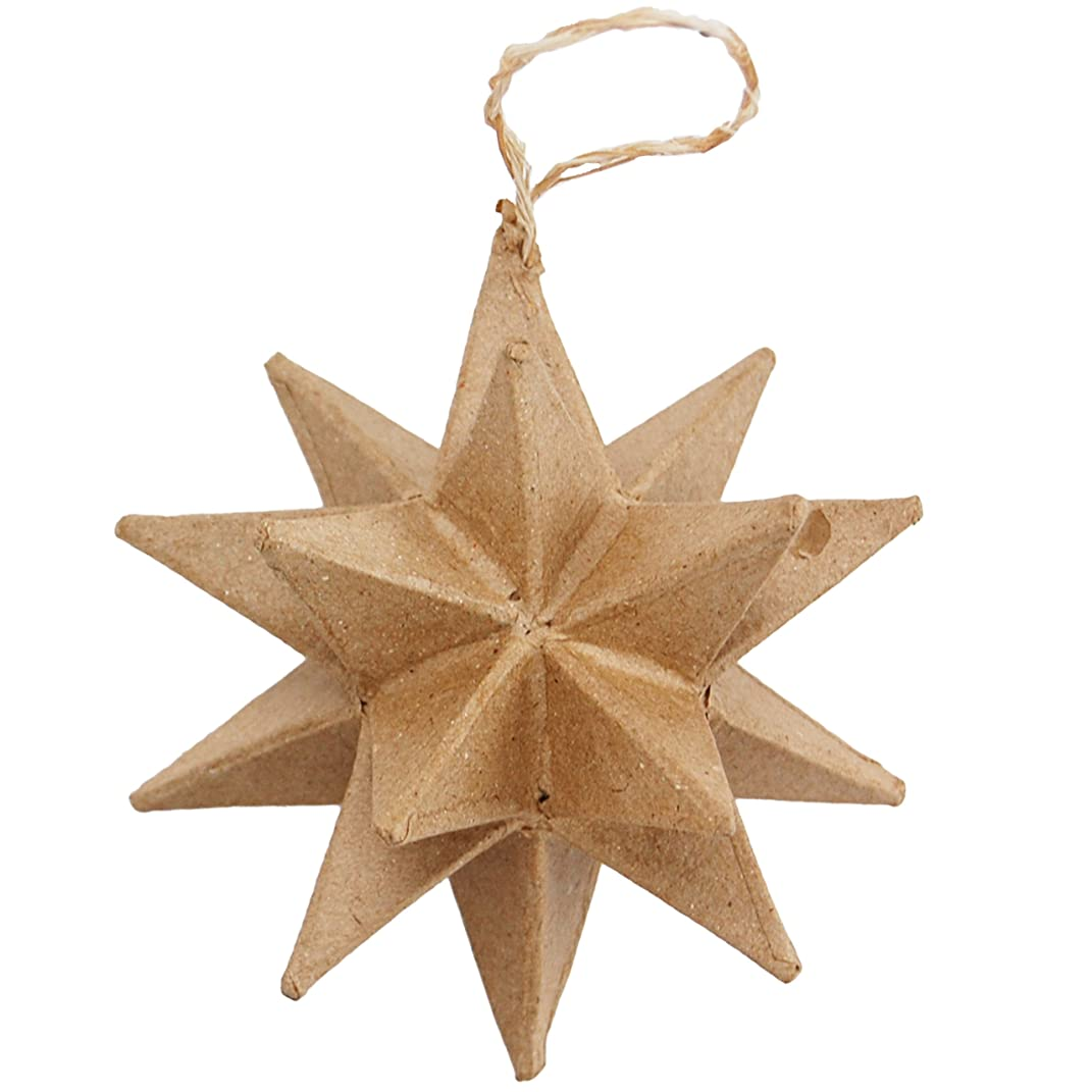 Country Love Crafts Multi-Point Star Ornament Papier Mache