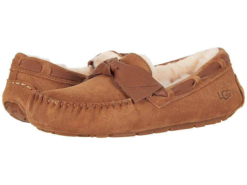 UGG Dakota Leather Bow (Chestnut) Women