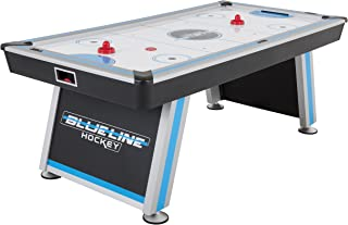 Triumph Blue-Line 7' Air-Powered Hockey Table with 100V Motor and Includes Two Hockey Pushers and Two Pucks