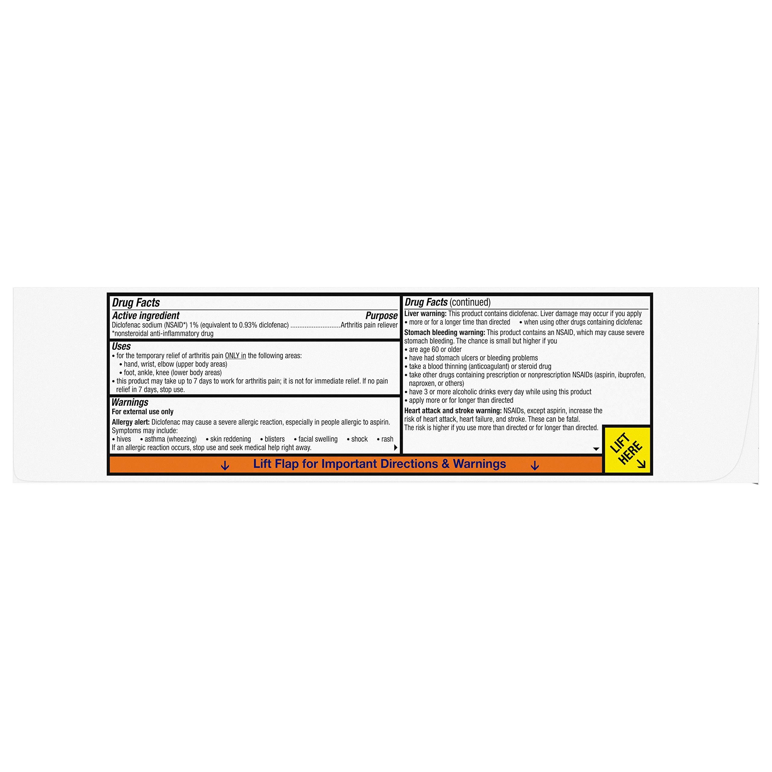 Voltaren Topical Arthritis Pain Relief Gel - 5.29 Ounce Tube (Pack of 2), 5.29 Ounce