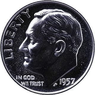 1957 PROOF Roosevelt Silver Dime GEM PROOF US Mint