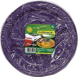 Hotpack Plastic Plates10 - 25 Pieces , Multicolor