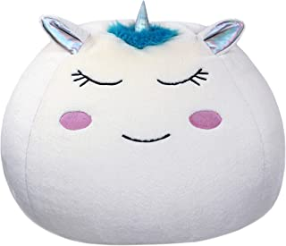 Bins & Things Unicorn Bean Bag Chair Cover for Kids (26 x 24 Inch) Ultra-Soft and Fluffy Fur-Like Cover for Kids Bean Bag Chair, Stuffed Animal Storage - Cute Unicorn Room Decor for Girls and Boys