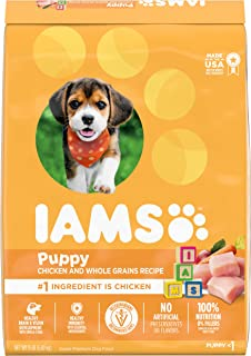 IAMS Puppy Dry Dog Food - Chicken and Whole Grains Recipe, 6.80kg (15LB) Bag